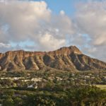 Diamond Head Crater on the Hawaiian island of Oahu