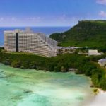 Guam and Tumon bay with hotels