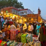 Meena Bazaar in front of Jama Mashid mosque in Delhi, India