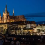 Prague Castle over Vltava river, Czech Republic