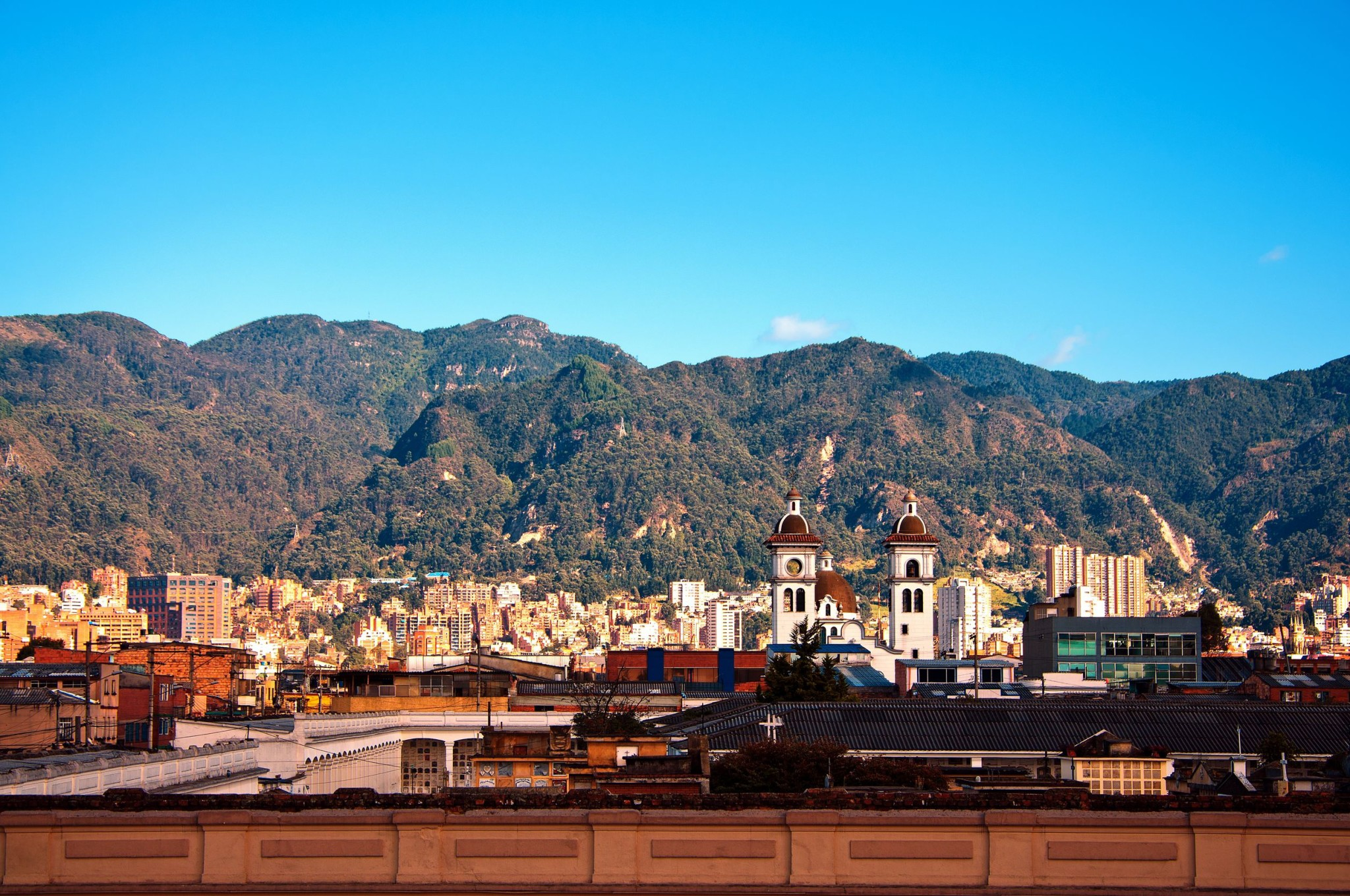 Bogota and the Andes Mountains, Colombia