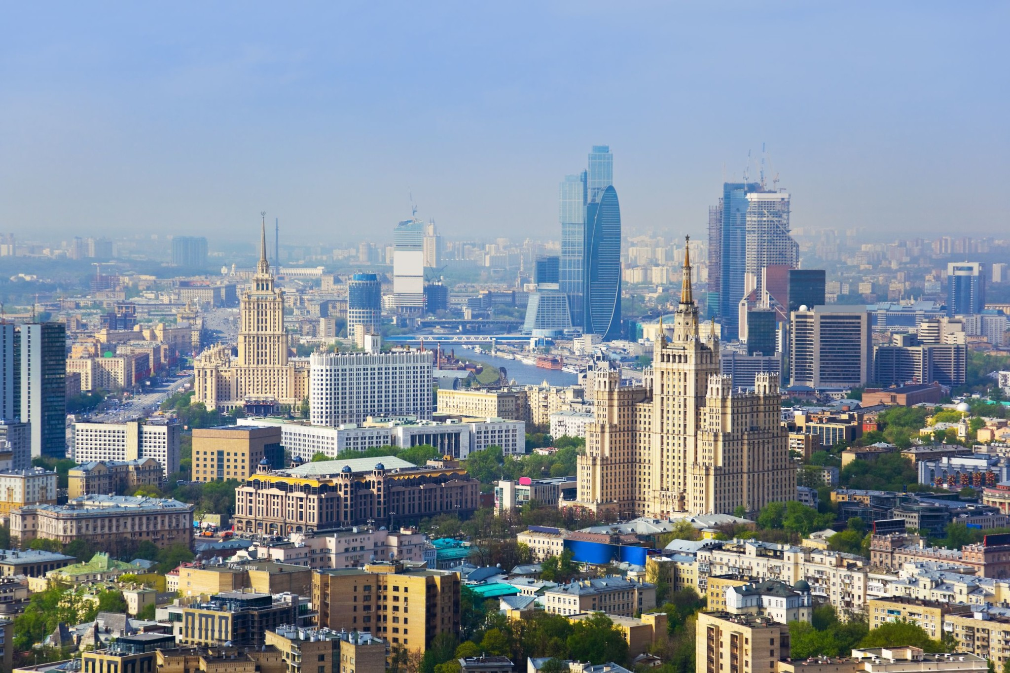 Moscow city center, Russia