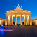 Panorama Brandenburg Gate in Berlin, Germany