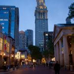 Quincy Market and Custom House Tower in Boston, Massachusetts