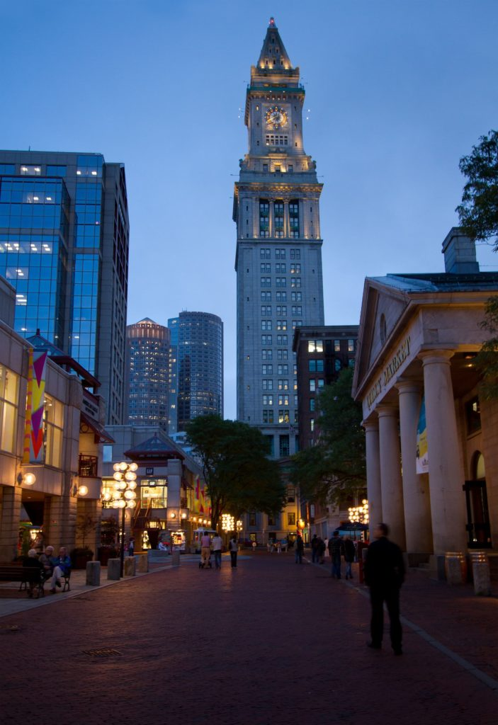 Quincy Market and Custom House Tower in Boston Massachusetts 703x1024 Boston Layover