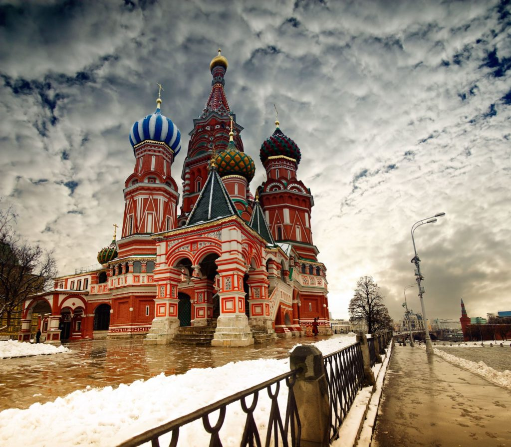 St. Basil Cathedral on Red Square in Moscow Russia 1024x896 Layover At Moscow's Sheremetyevo International Airport