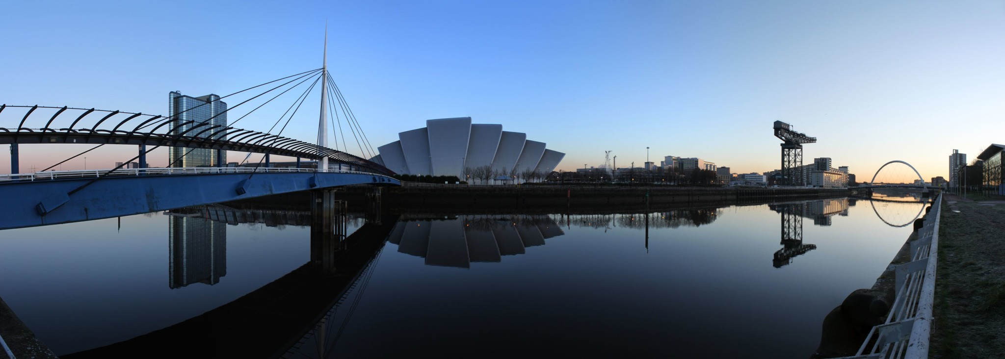 Glasgow's River Clyde in Scotland