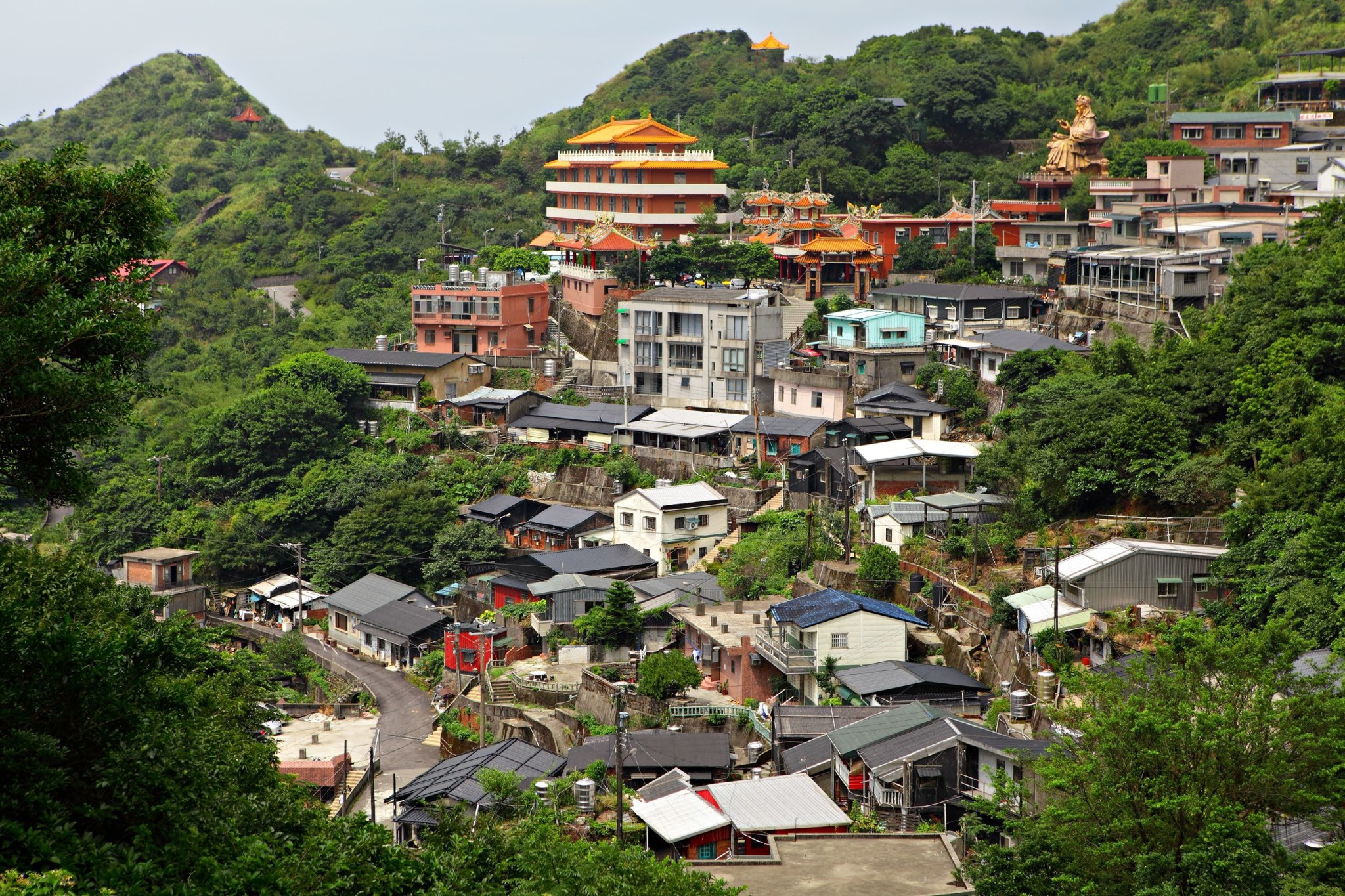 Jinguashi village in Taiwan
