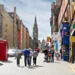 Edinburgh Royal Mile in Edinburgh Scotland