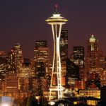 Seattle skyline space needle