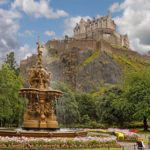 The Ross Fountain below Edinburgh Castle in Scotland