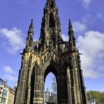 The Scott Monument in Edinburgh Scotland