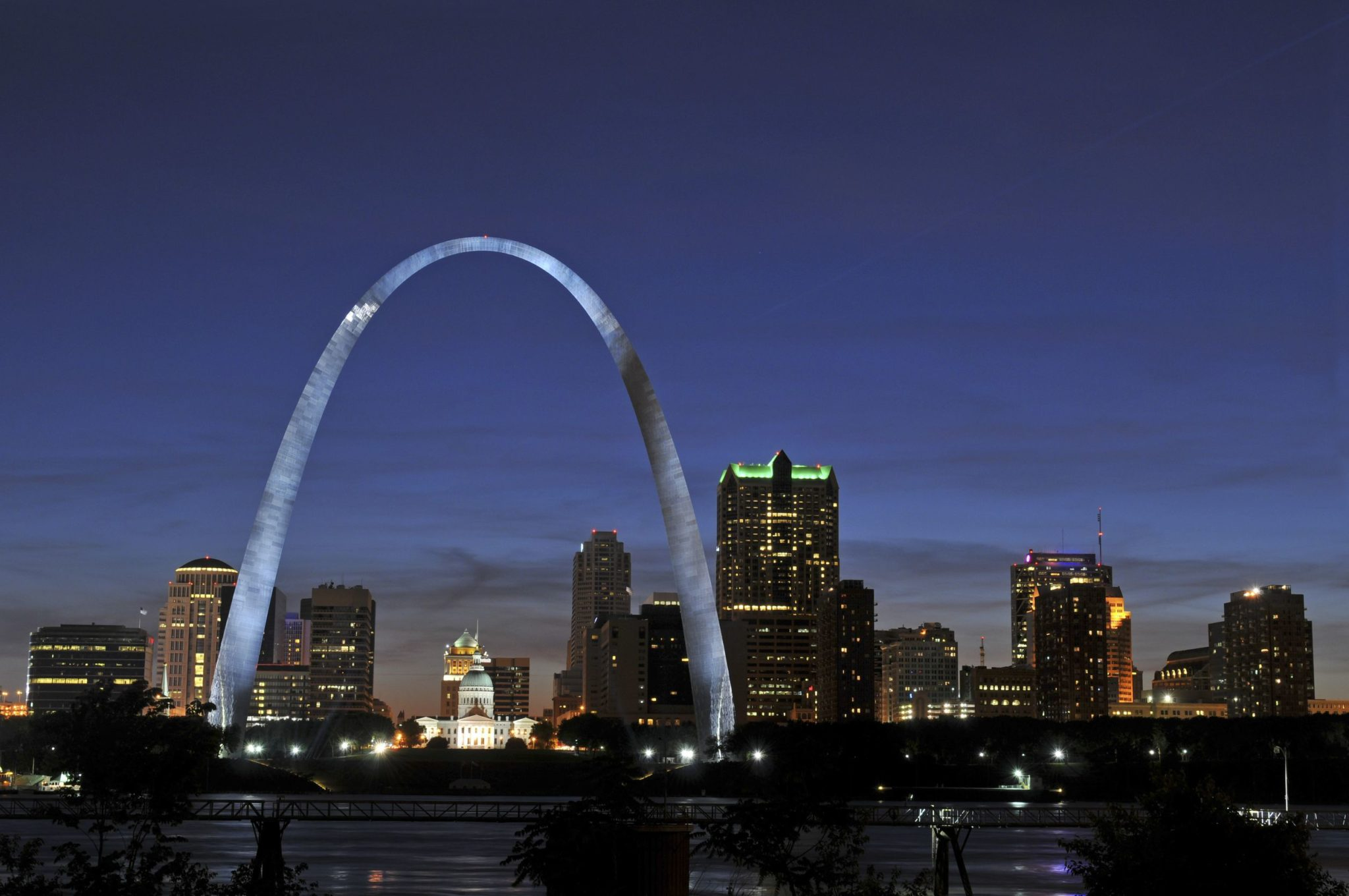 Saint Louis Skyline with the Mississippi river