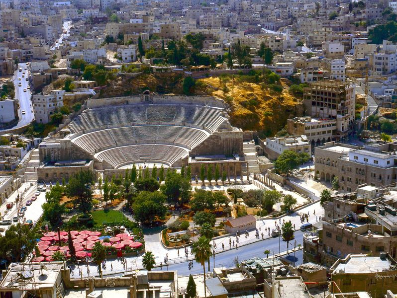 Amman, Jordan with Roman amphitheater