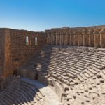 Old amphitheater Aspendos in Antalya Turkey