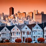 Victorian homes on Steiner Street and the San Francisco skyline from Alamo Square Park 150x150 San Francisco Layover