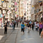 Istiklal Avenue in the Beyoglu district in Istanbul, Turkey