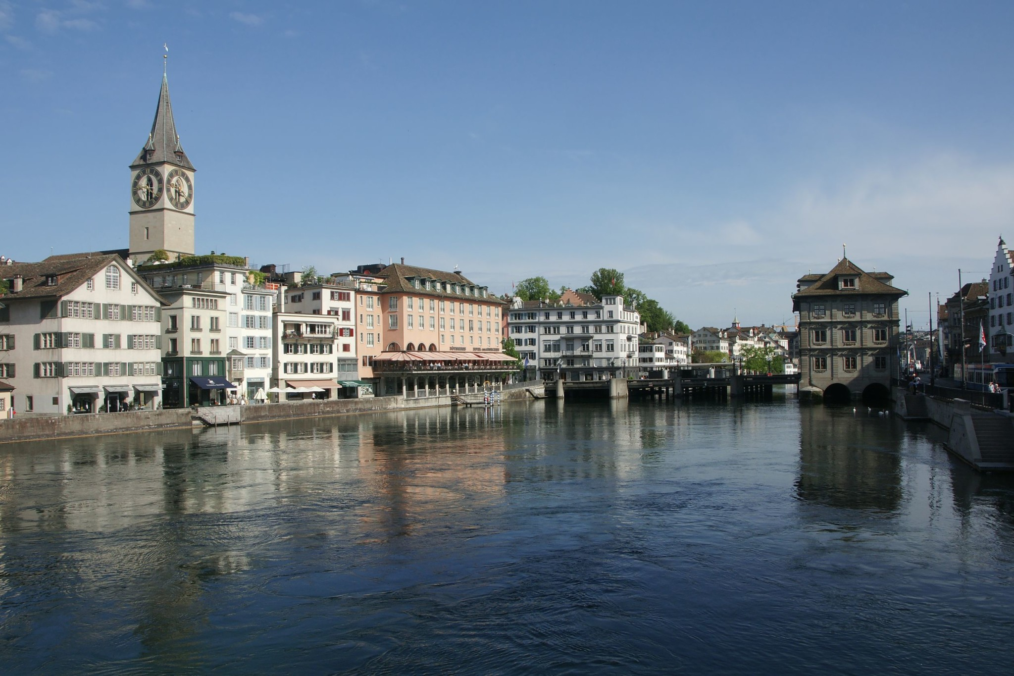 Limmat River in Zurich, Switzerland