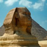 Sphinx of Egypt in Cairo Egypt