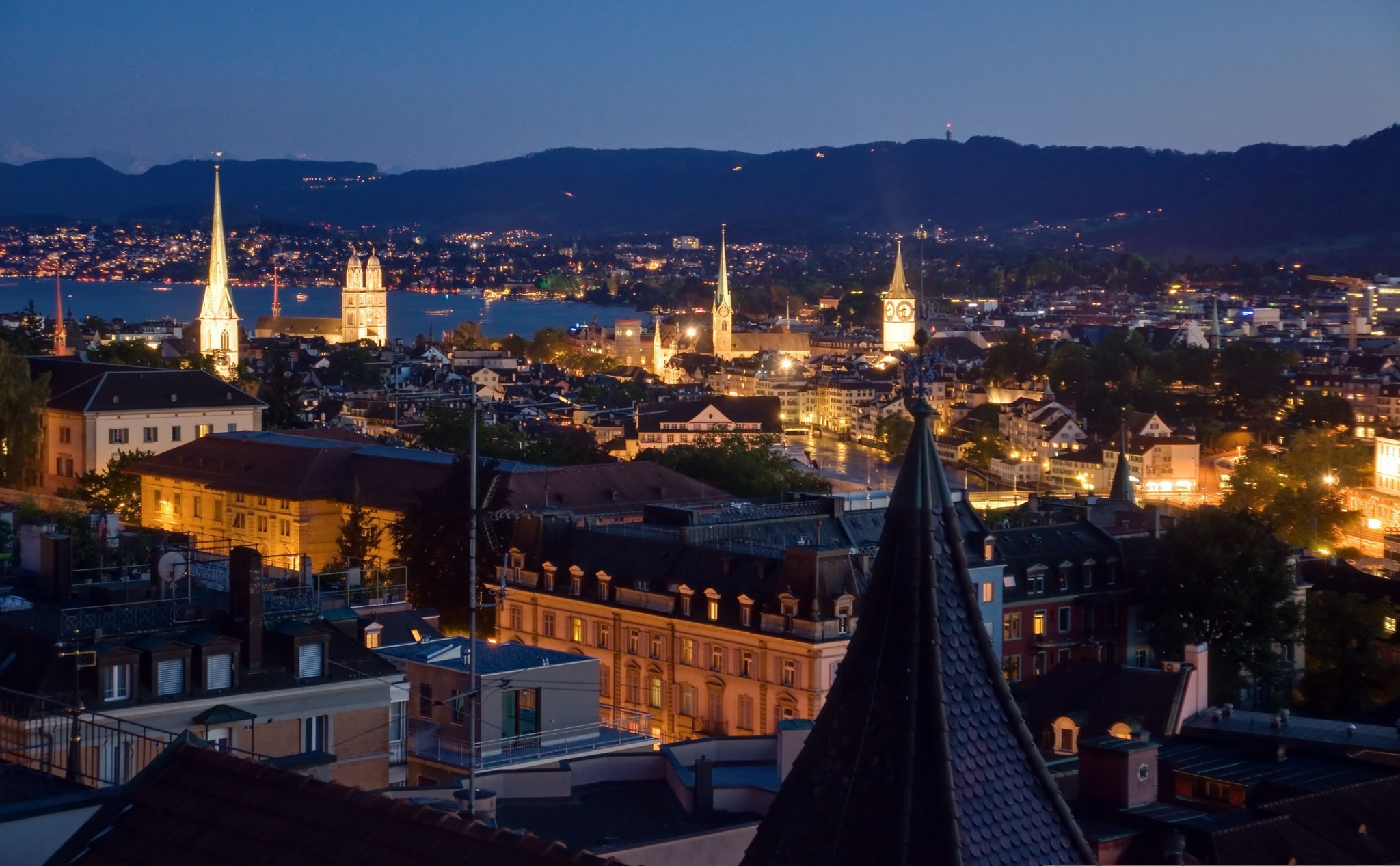 Zurich Switzerland at night