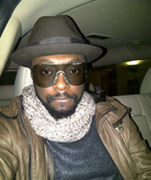 Will.i.am on airplane