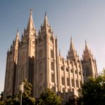 Mormon Churches Temple Square in Salt Lake City, Utah