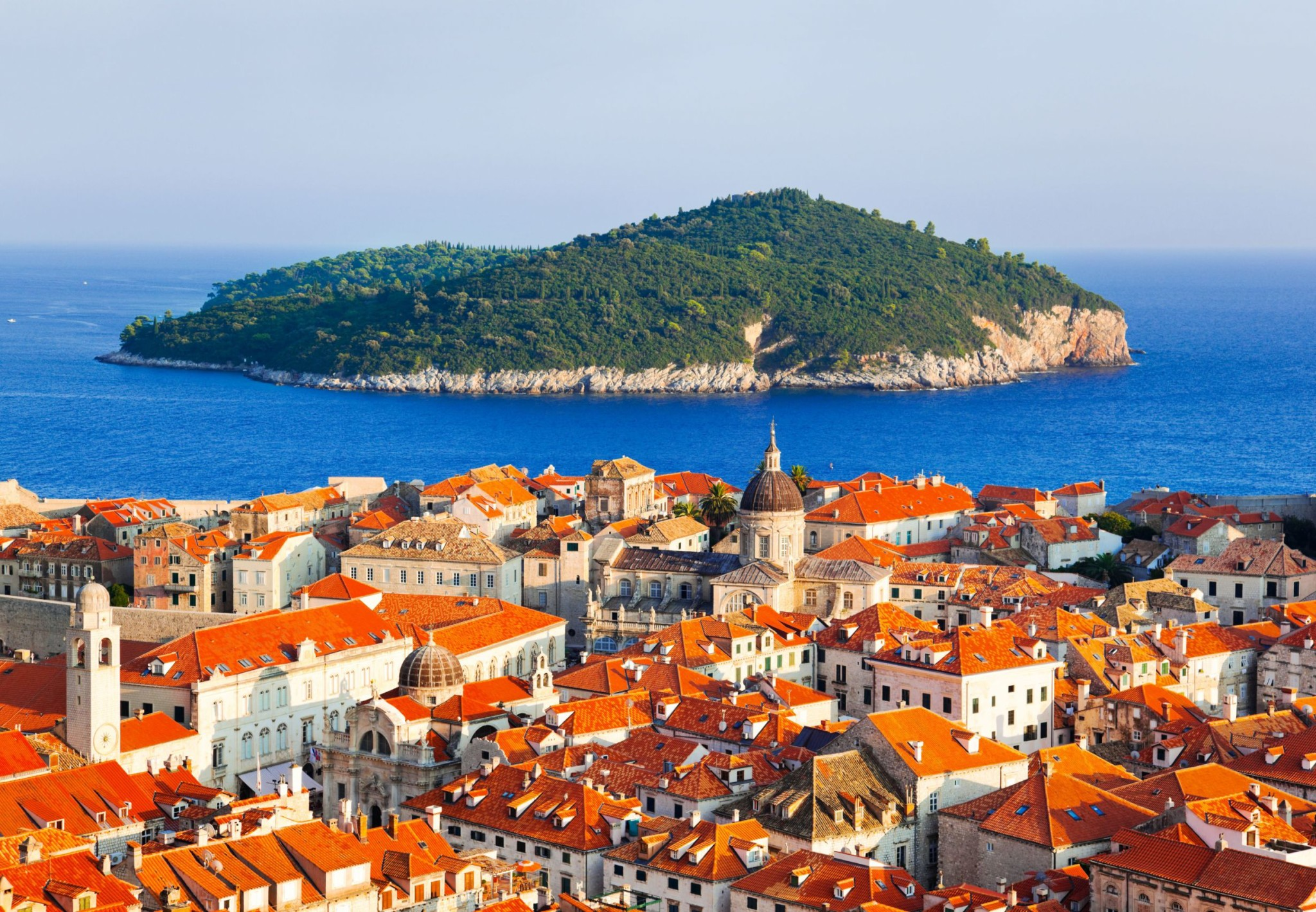 Dubrovnik and island in Croatia