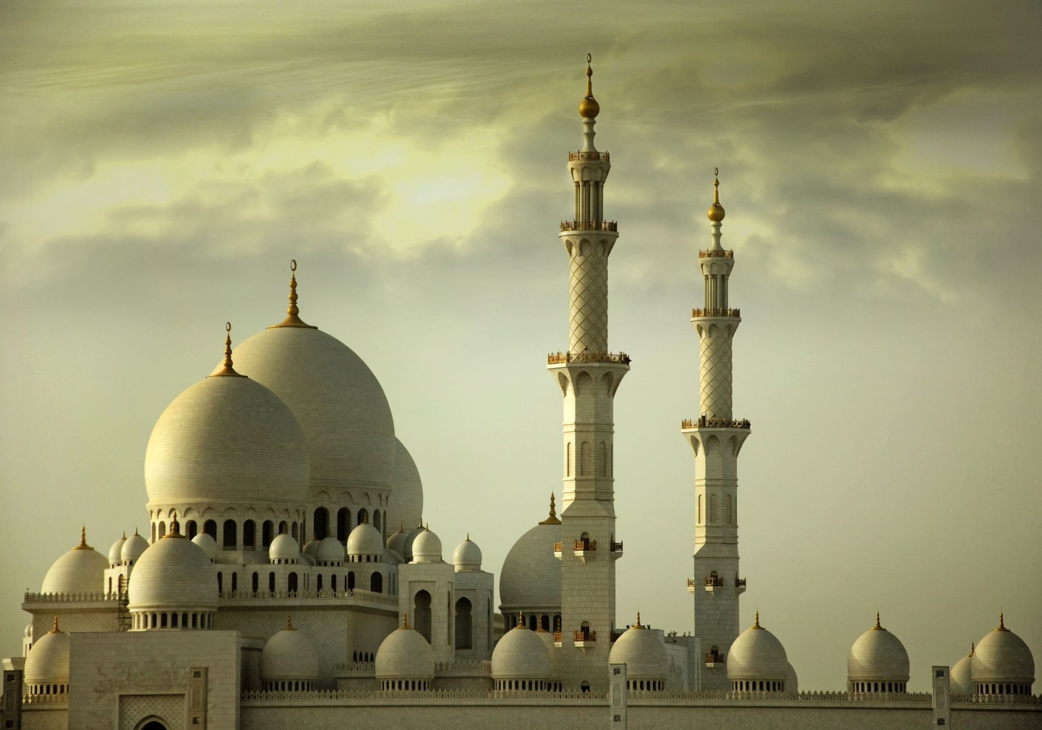 Grand Mosque, Sheikh Zayed Mosque, in Abu Dhabi, United Arab Emirates