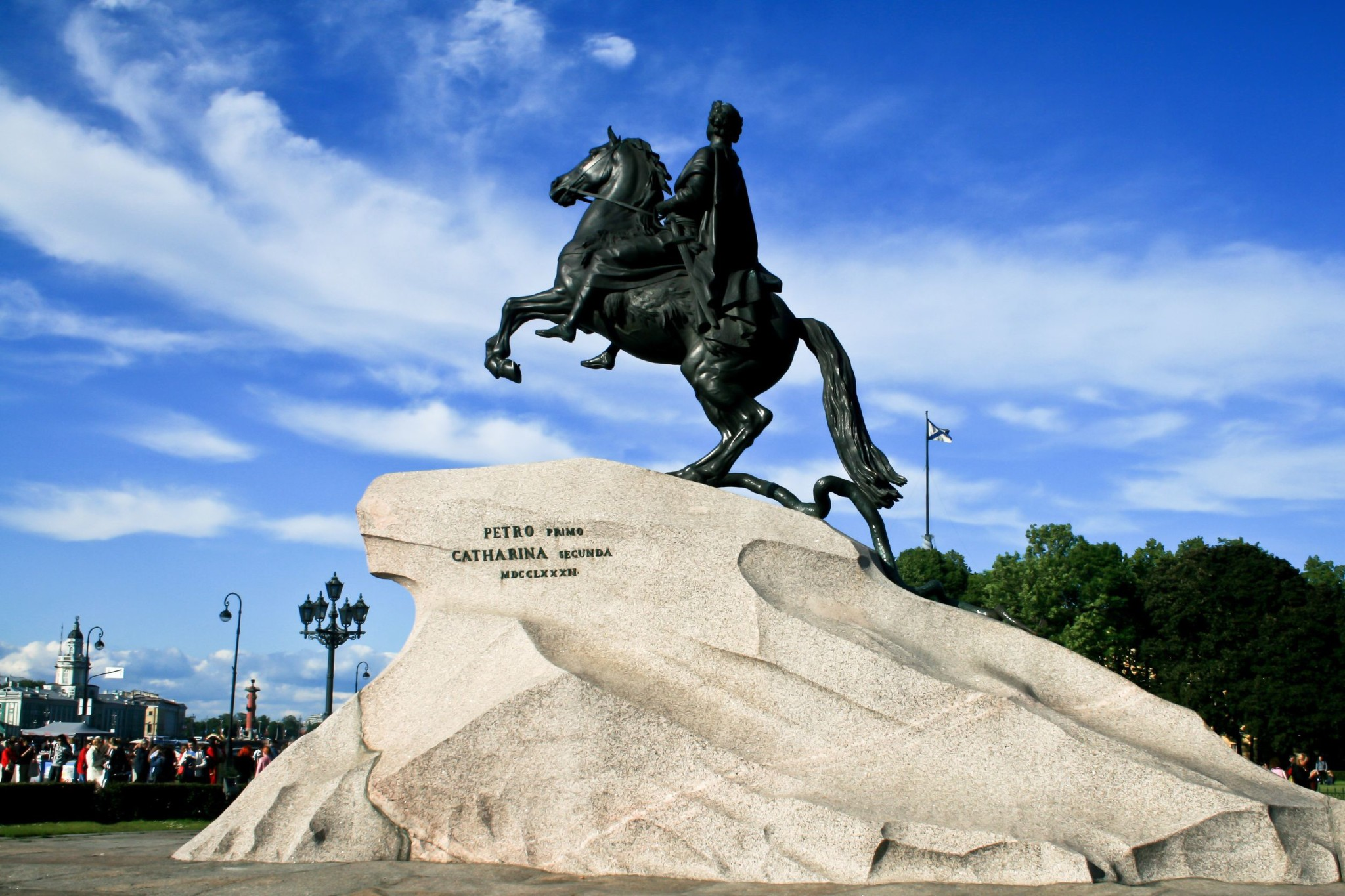 Peter the Great on a horse in Saint Petersburg, Russia
