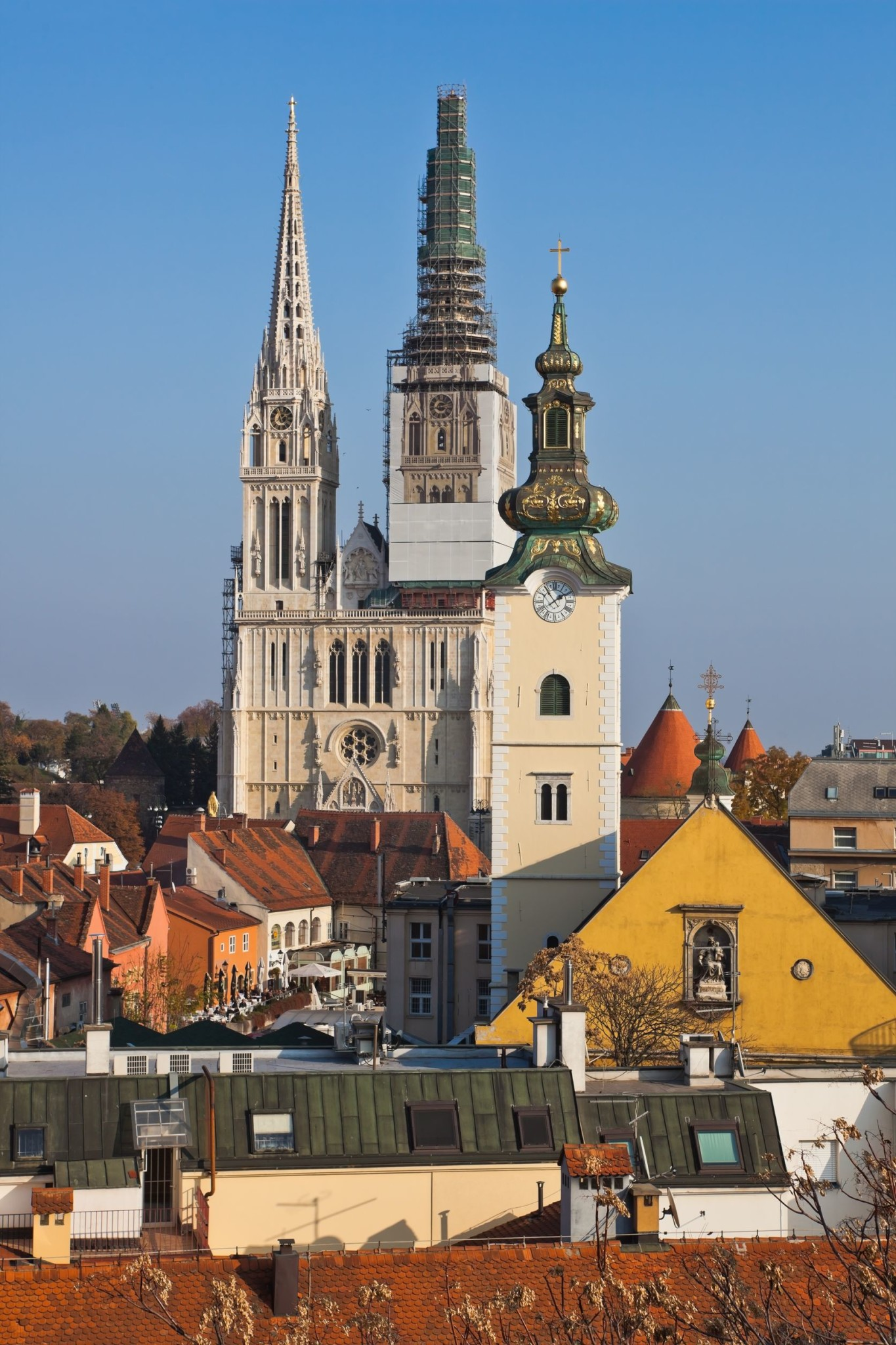Cathedral in the Old City of Zagreb, Croatia