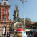 Croatian Easter eggs in Zagreb, Croatia