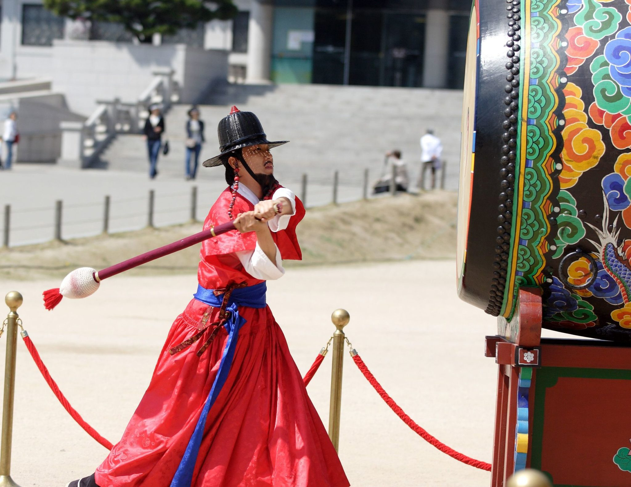 Changing of the Guard at Kyoungbok Palace in Seoul, South Korea