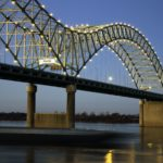 Hernando de Soto Bridge in Memphis, Tennessee.