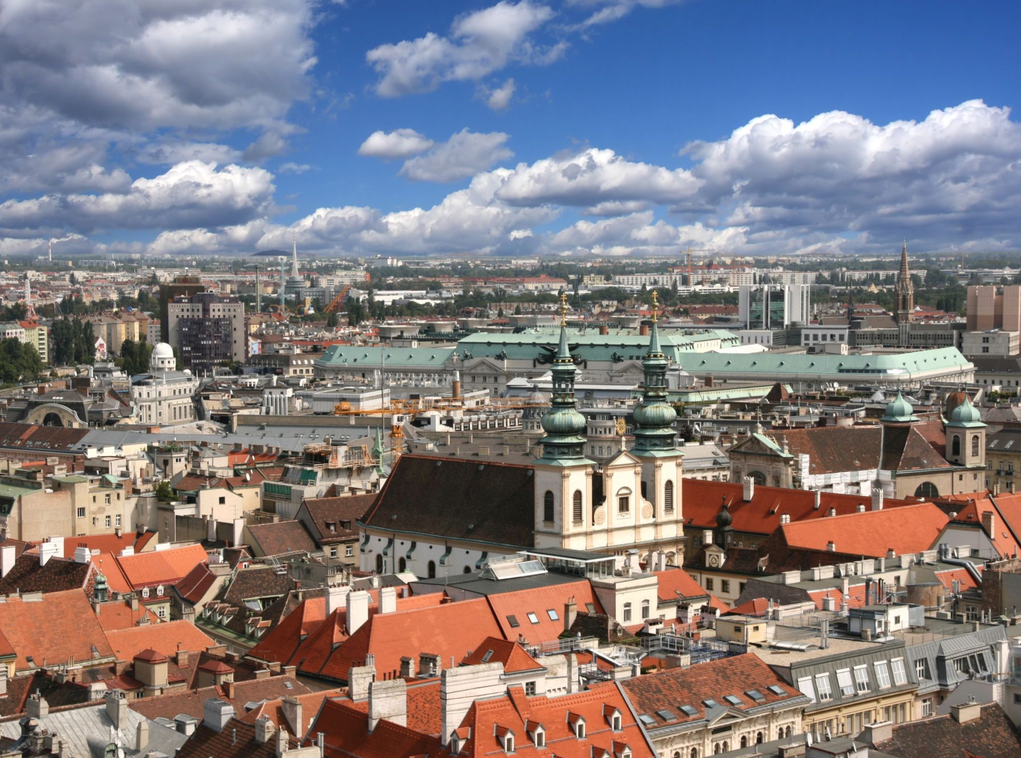 Vienna aerial view of Dominican Church
