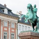 Statue of Absalon on Hojbro square in Copenhagen, Denmark