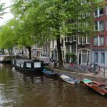 Amsterdam city canal in Amsterdam, Holland