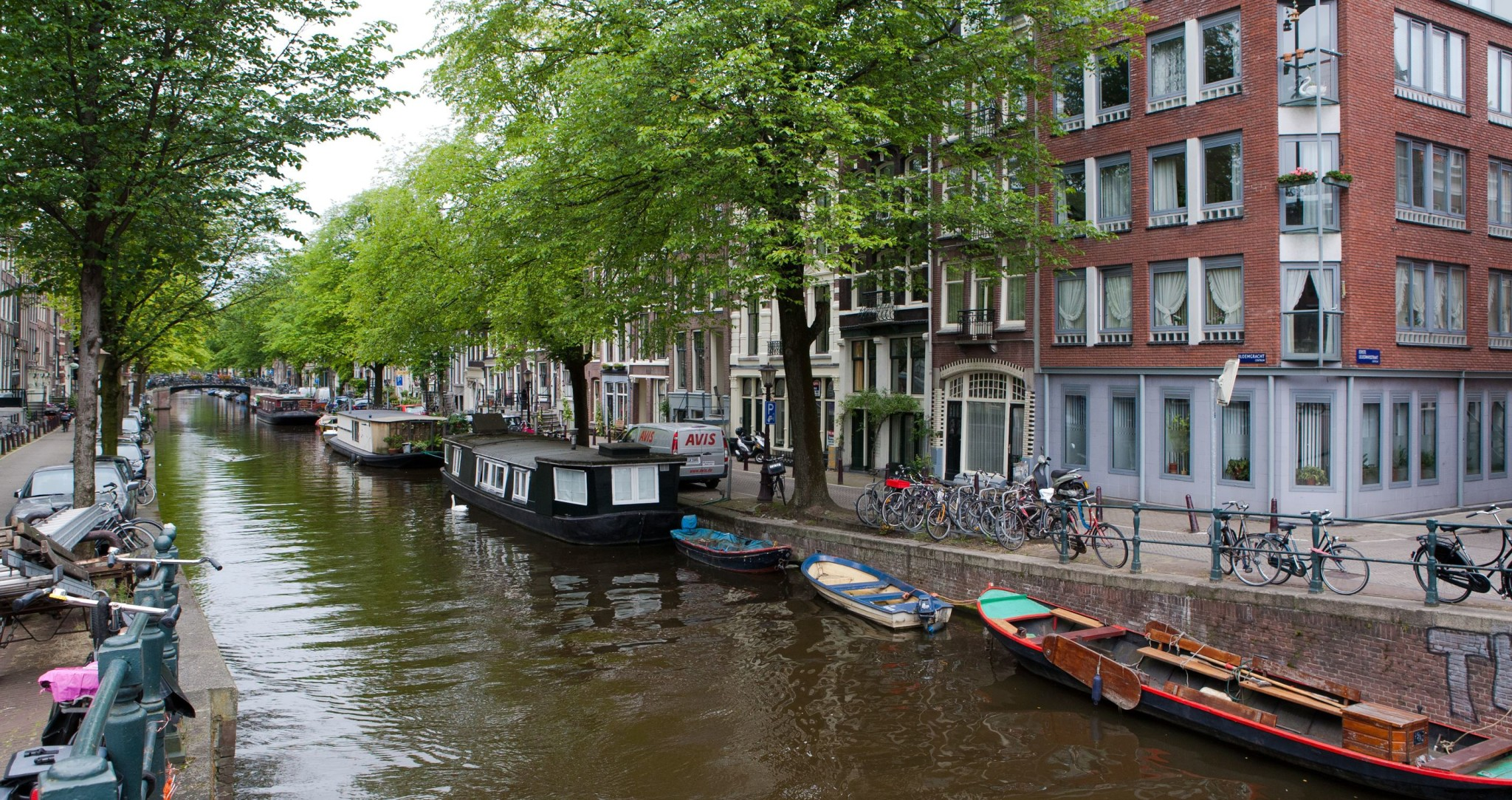 Amsterdam city canal in Amsterdam, Netherlands