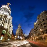 Gran via street, main shopping street in Madrid