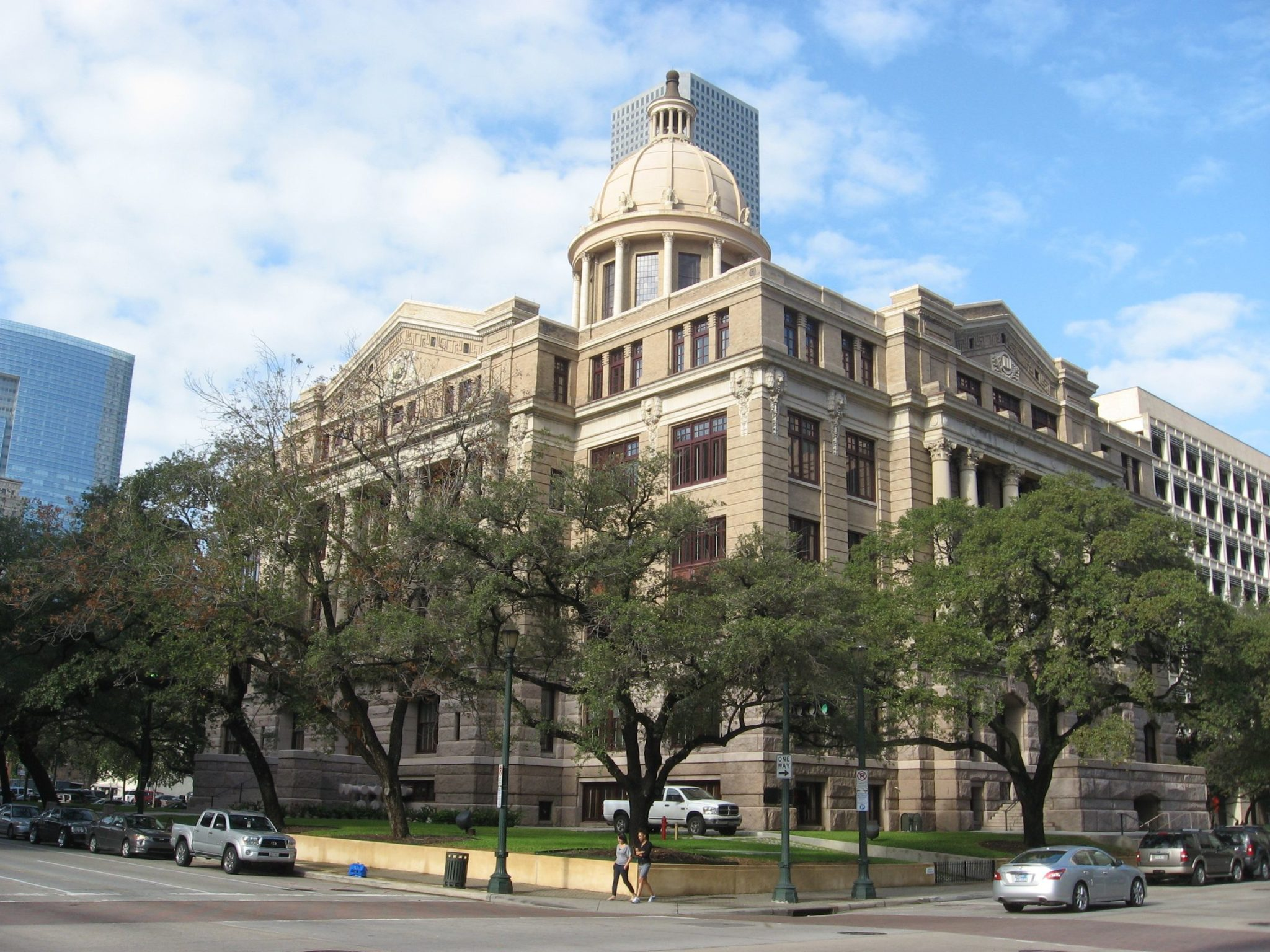 Historic Harris County Courthouse in downtown Houston, Texas