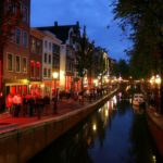 Red Light District in Amsterdam, Holland Netherlands