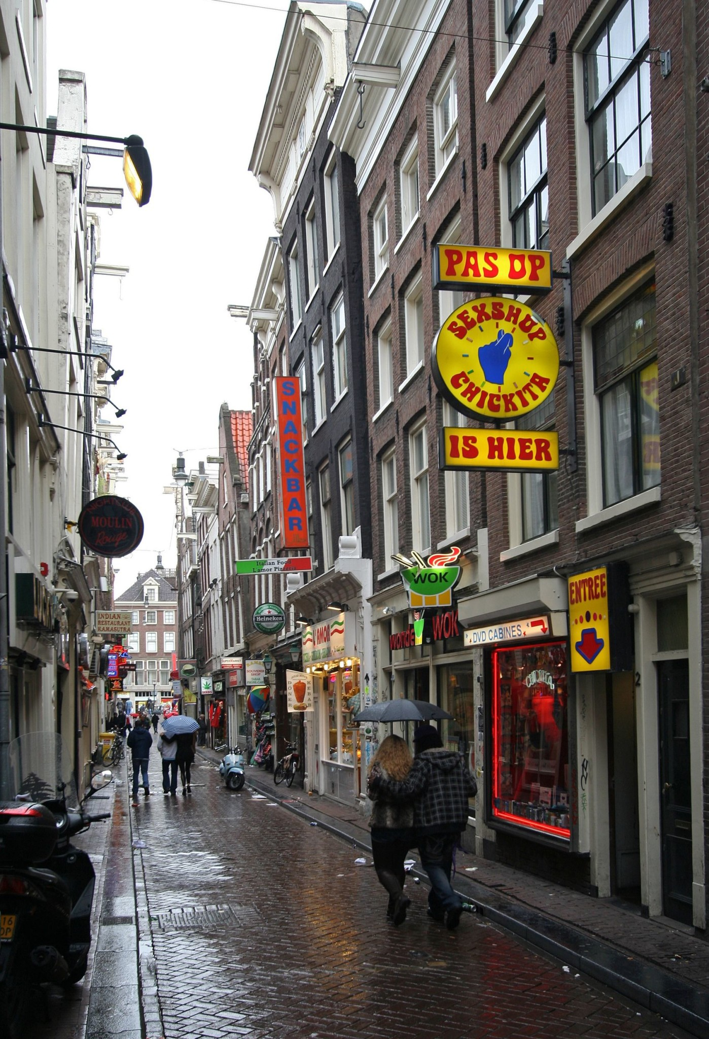 Red Light District in Amsterdam, Holland