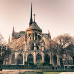 Notre Dame Cathedral in Winter, Paris France